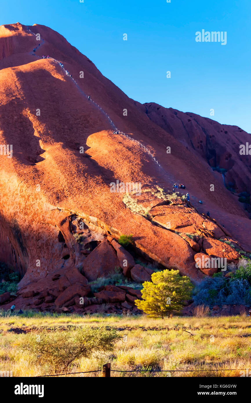 Ayres Rock, Red Centre, Australia - Stock Image