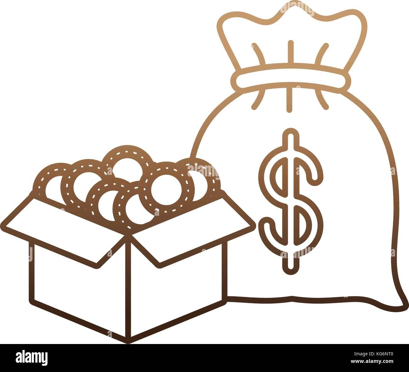 money sack icon - Stock Image