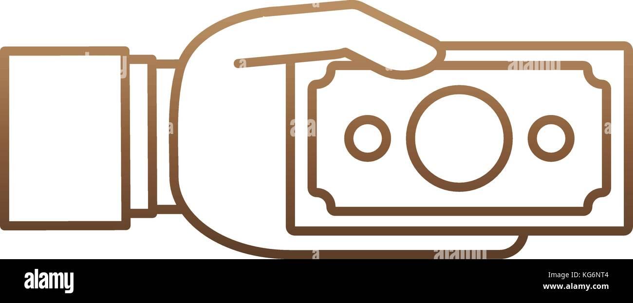 hand with money icon - Stock Image