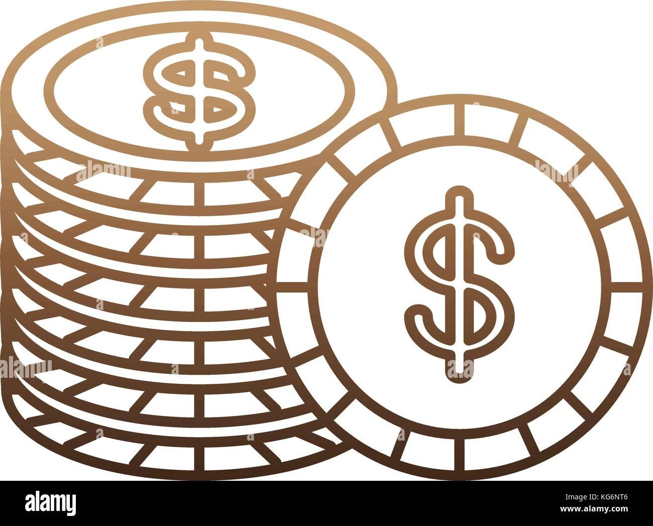 money coins design - Stock Image