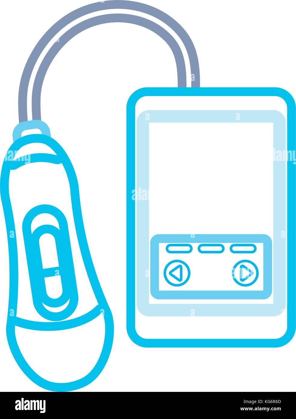 ultrasound cystem vector illustration - Stock Image