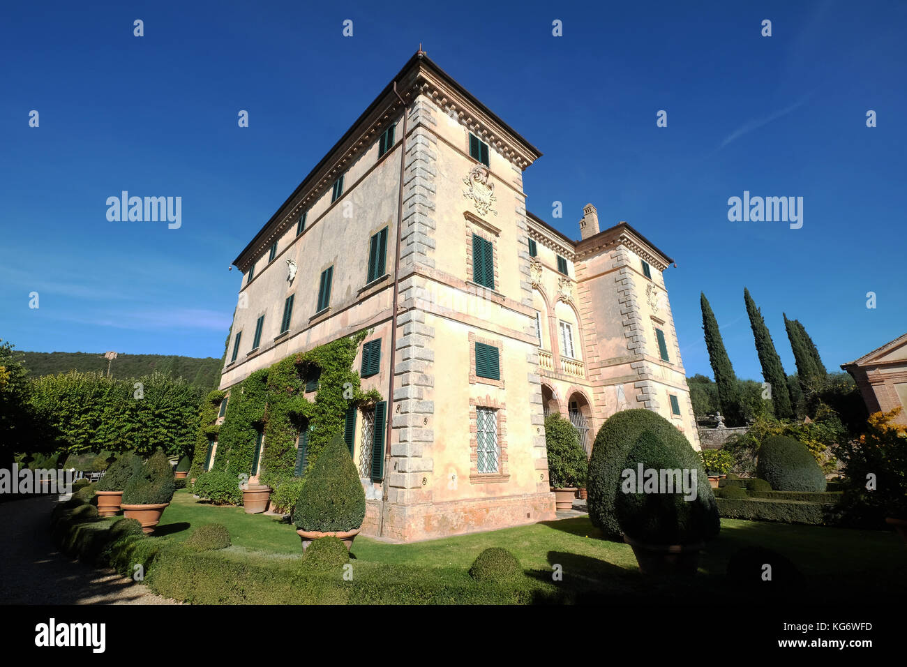 Villas Near Siena Italy contemporary images of villa cetinale,siena italy stock