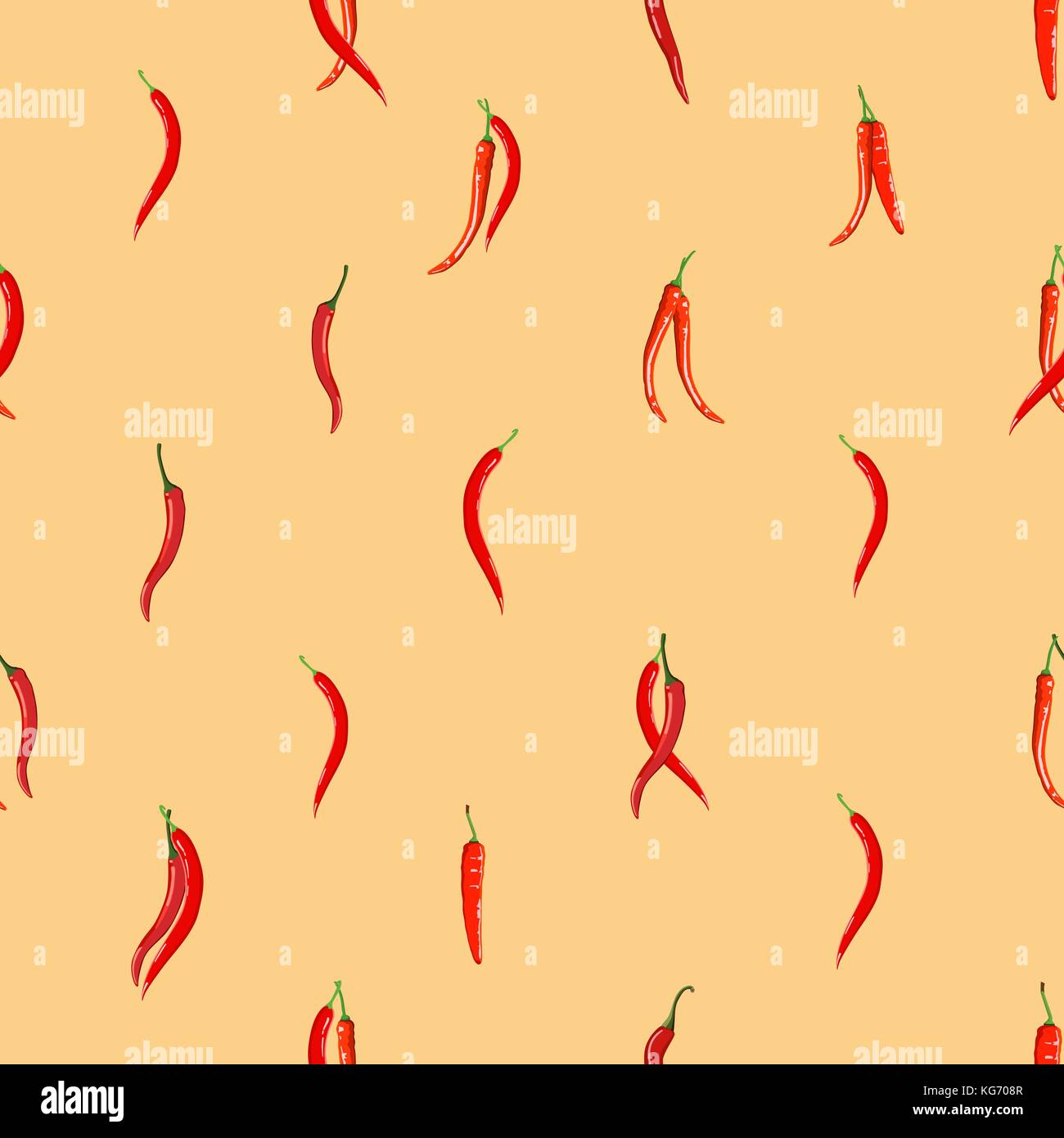 Red Hot Chili Peppers Pattern Seamless Wallpaper Background Stock