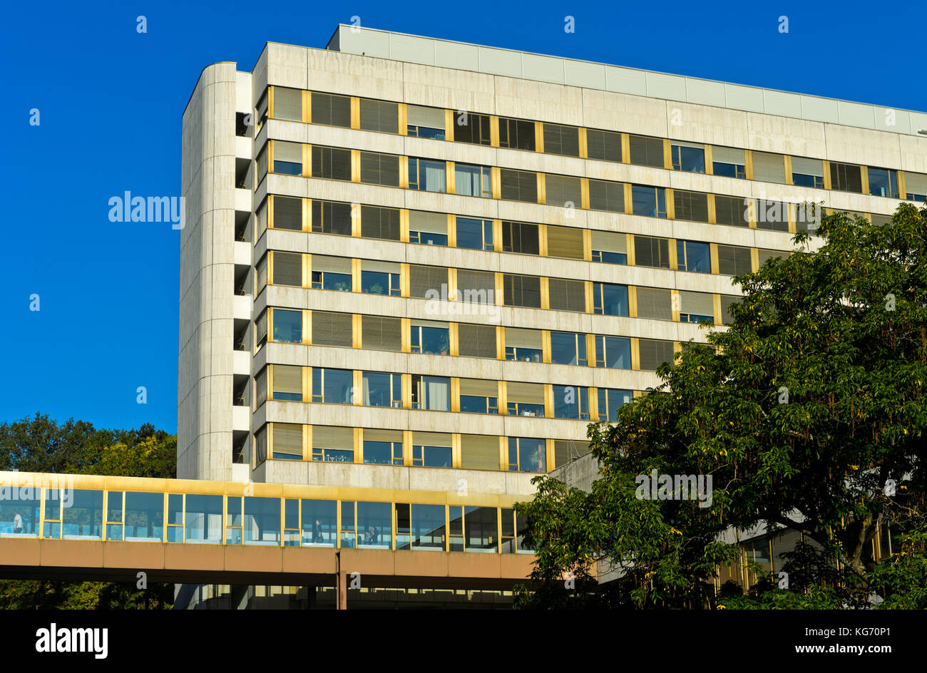Headquarters of the United Nations Conference on Trade and Development, UNCTAD, Ariana Park, E Building, United - Stock Image