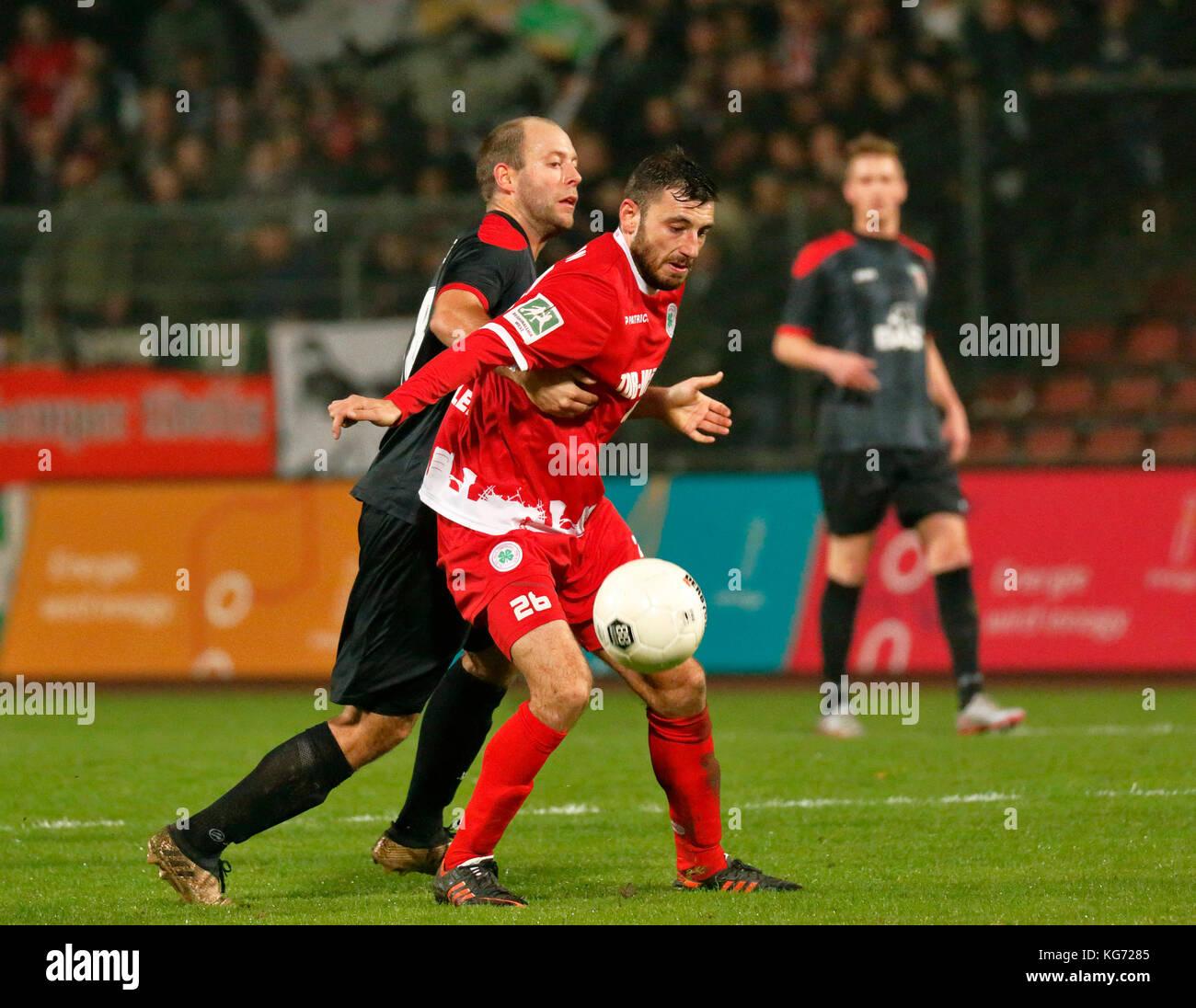 sports,football,Regional League West,2017/2018,Rot Weiss Oberhausen vs FC Wegberg-Beeck 1920 1:1,Stadium Niederrhein - Stock Image