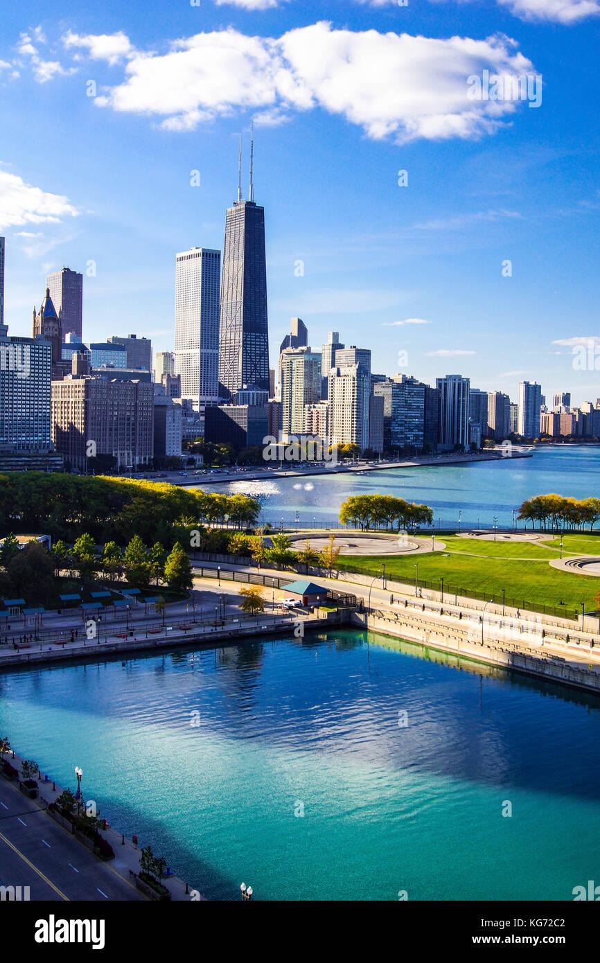 Chicago City Skyline - Stock Image