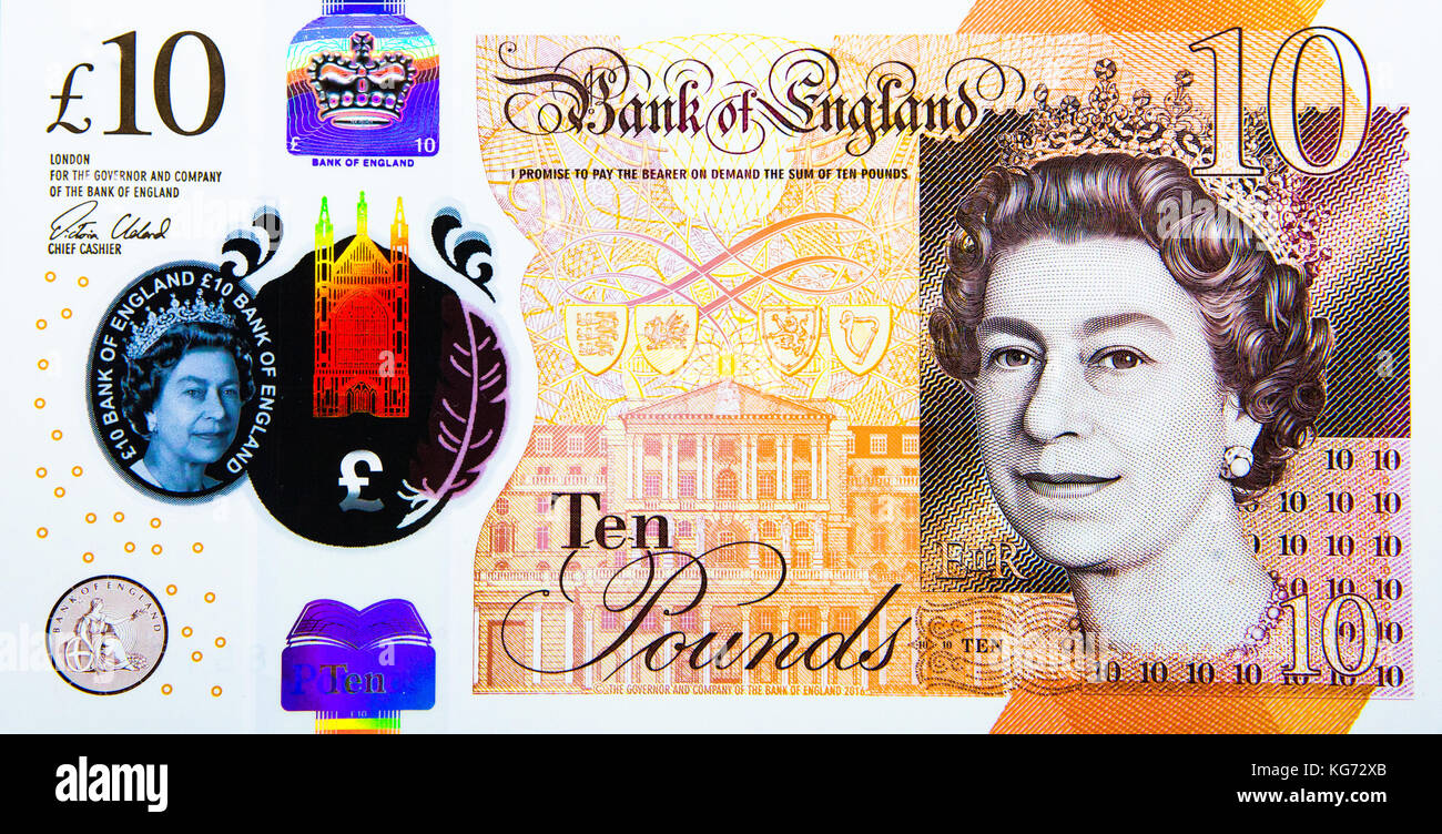 £10 notes - Stock Image