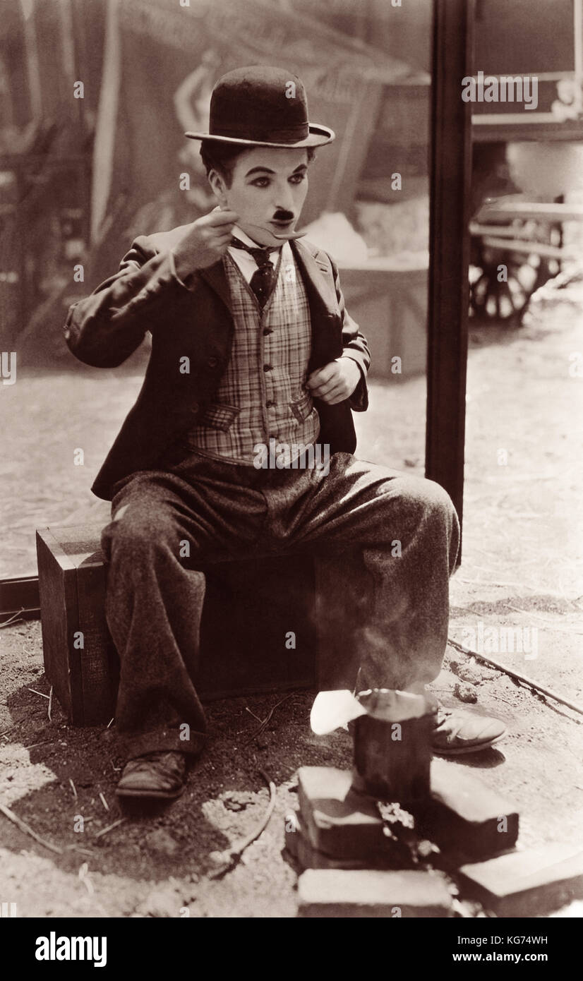 Silent film comic Charlie Chaplin (1889-1913) in the classic film 'The Circus' which was released in January, - Stock Image