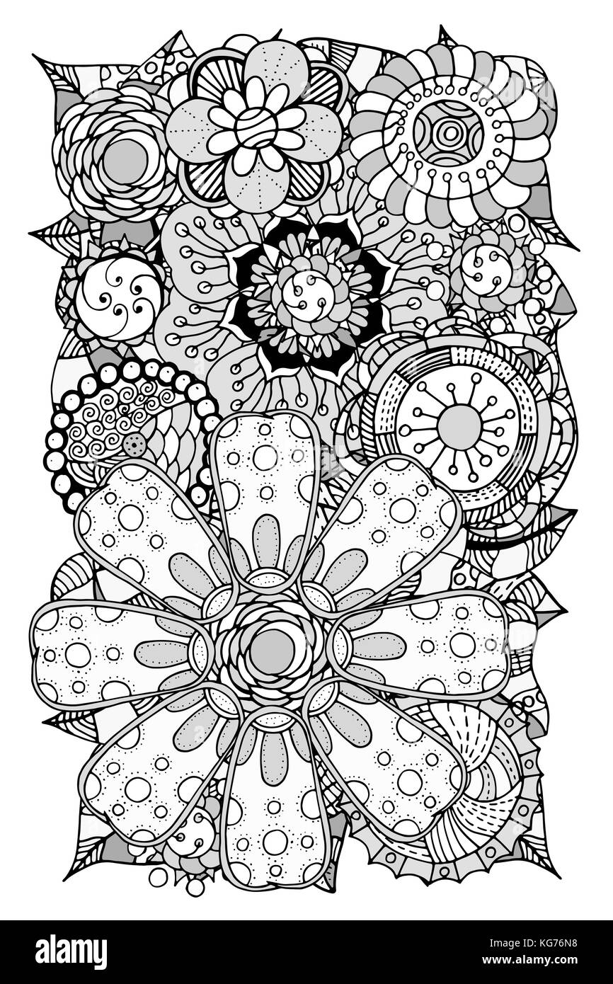Ethnic Floral Art Doodle Background Pattern Circle In Vector Henna