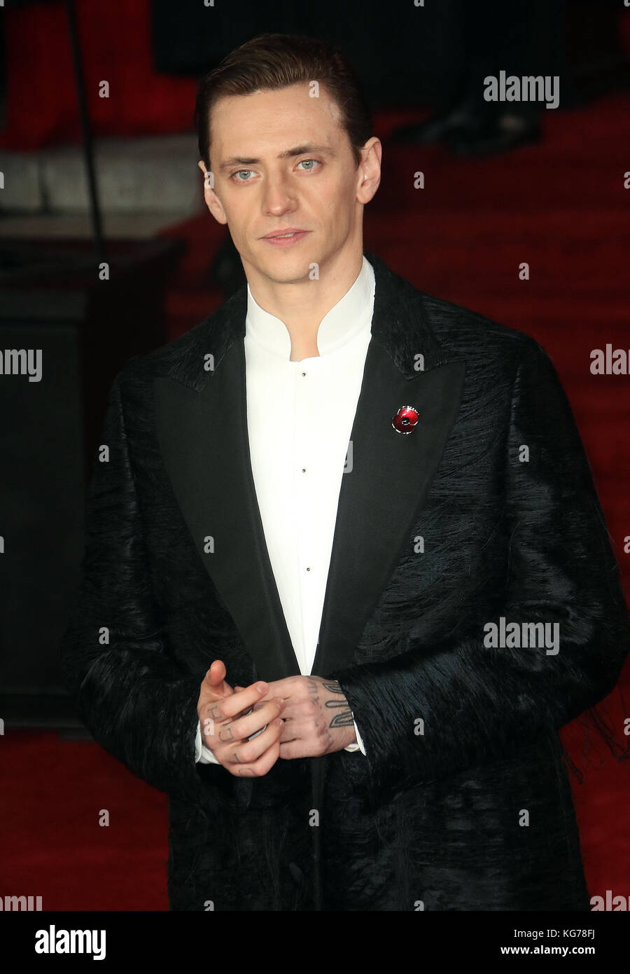 London, UK. 2nd November, 2017. Sergei Polunin the Murder on the Orient Express film premiere - Stock Image