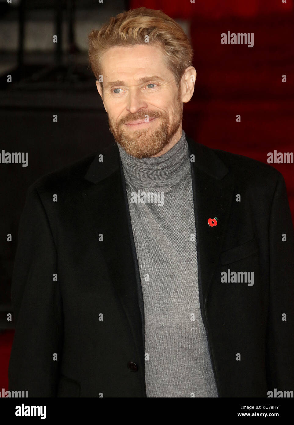 London, UK. 2nd November, 2017. Willem Dafoe attends the Murder on the Orient Express film premiere - Stock Image