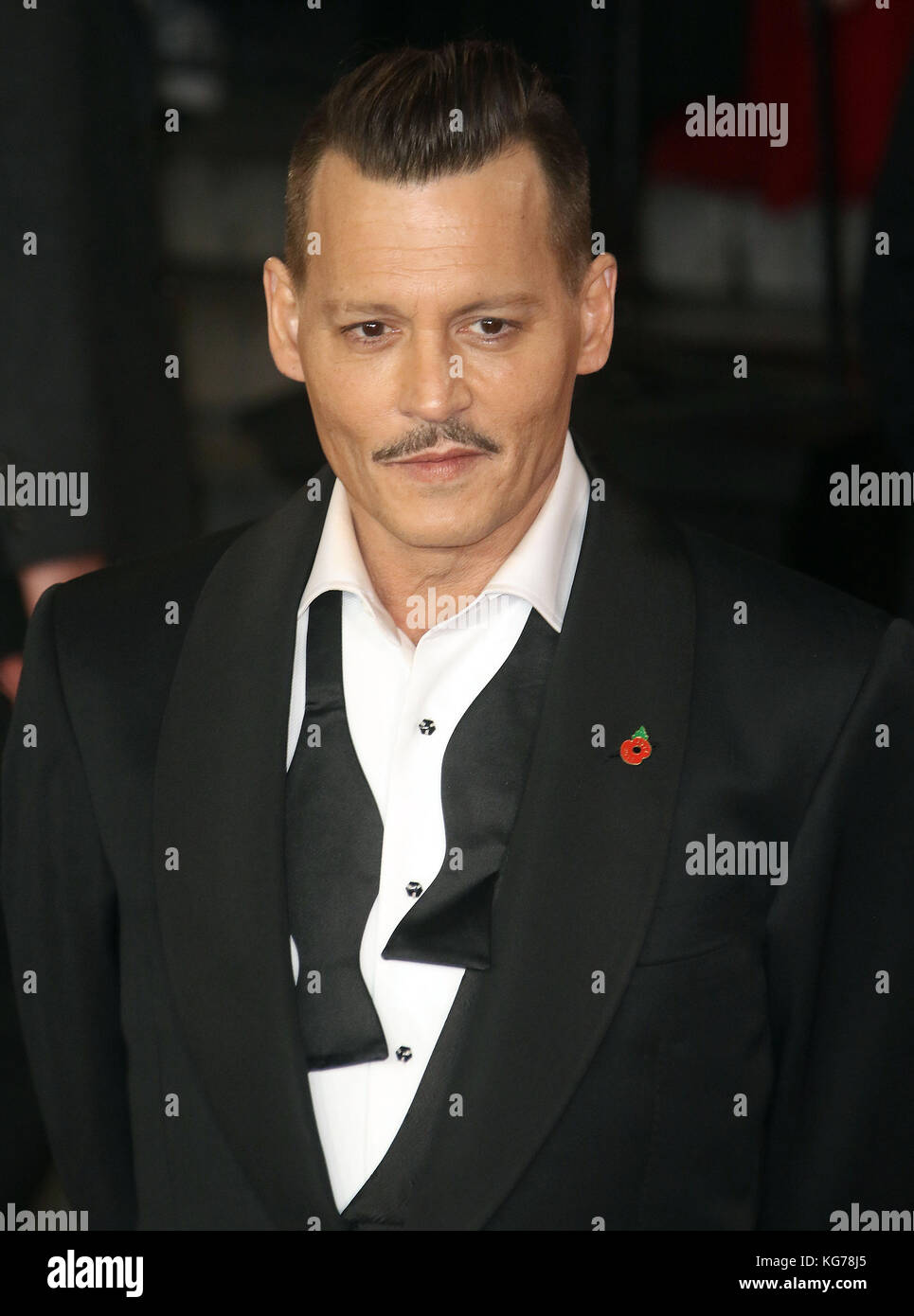 London, UK. 2nd November, 2017. Johnny Depp attends the Murder on the Orient Express film premiere - Stock Image