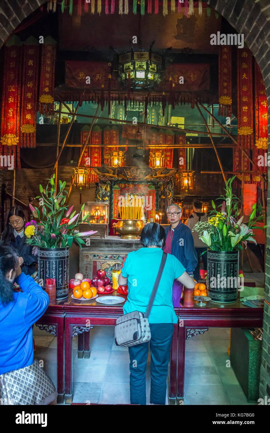 Lin Fa Kung Temple, Tai Hang, Hong Kong - Stock Image