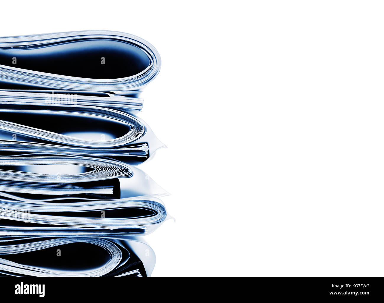 Stack of folded business, legal or insurance papers - Stock Image
