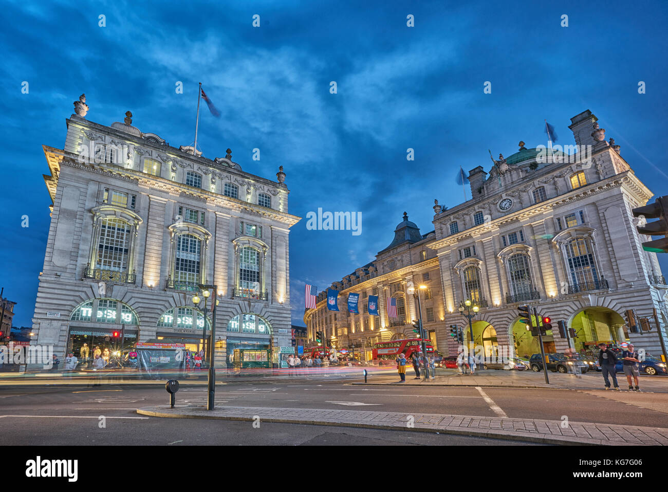 picadilly circus london - Stock Image