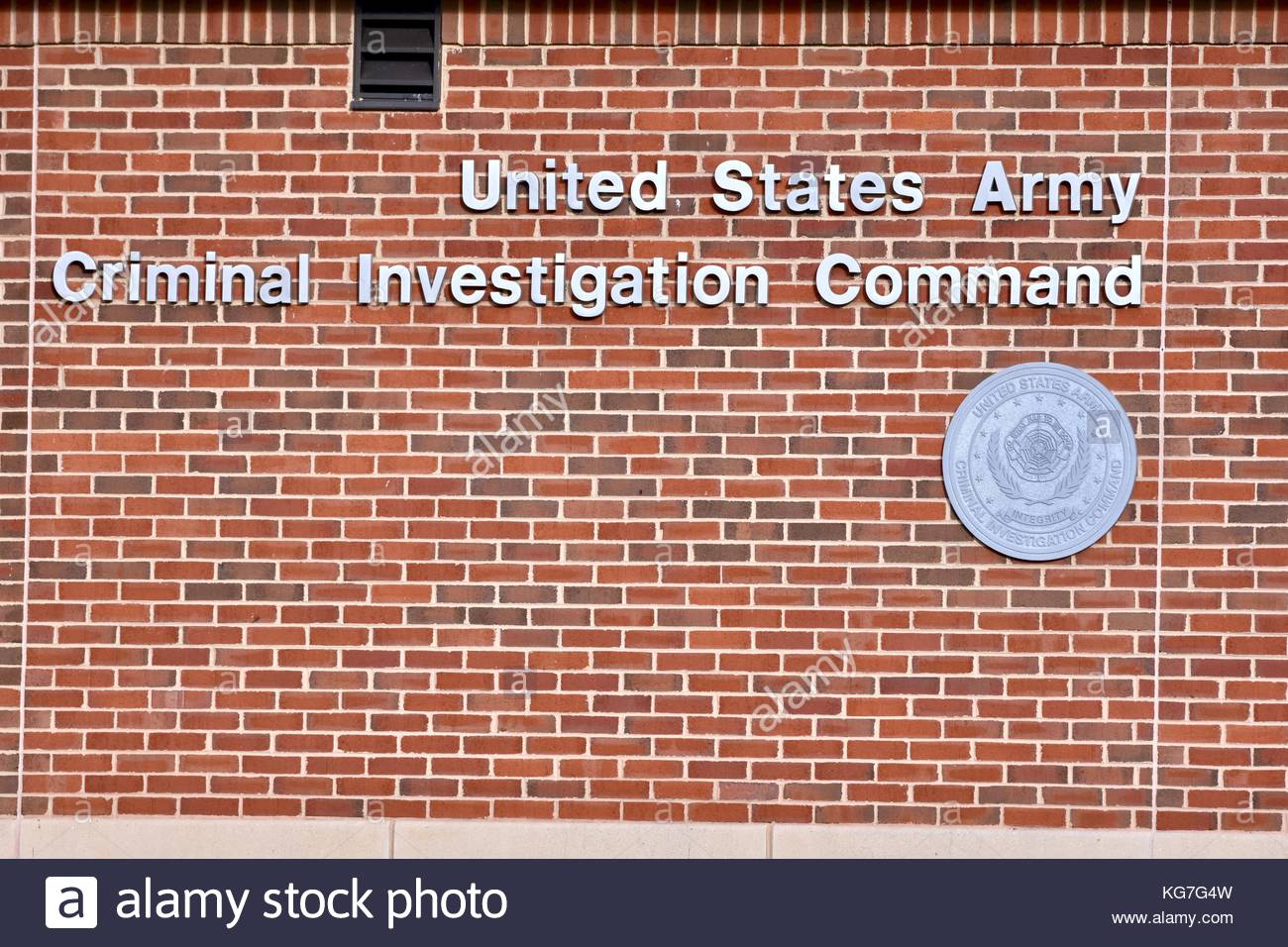 United States Army Criminal Investigation Command - Stock Image