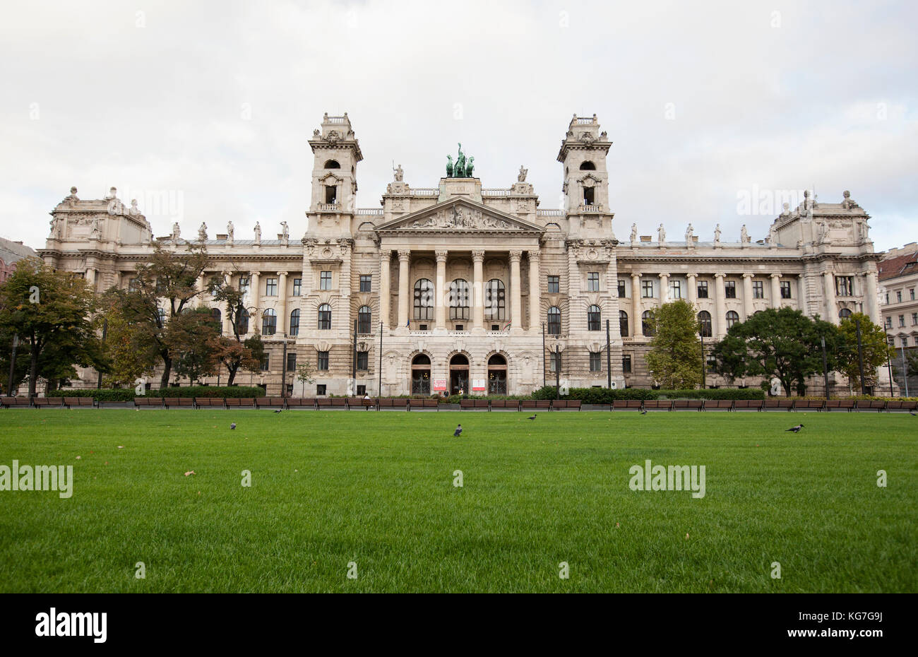 BUDAPEST - SEPTEMBER 17, 2017: The Museum of Ethnography in Budapest is one of Europe's largest, most important - Stock Image