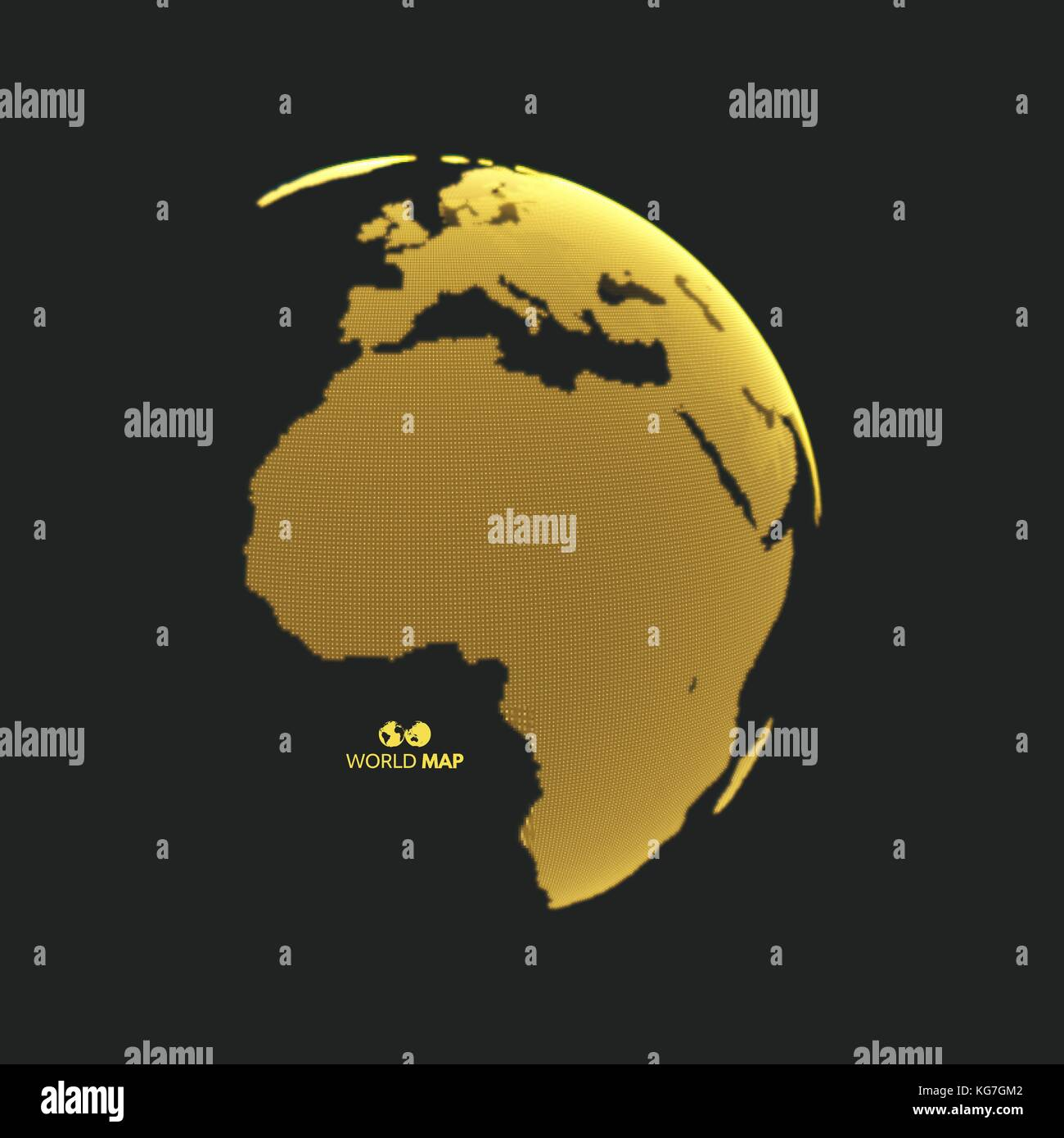 Africa and Europe. Earth globe. Global business marketing concept. Dotted style. Design for education, science, - Stock Image