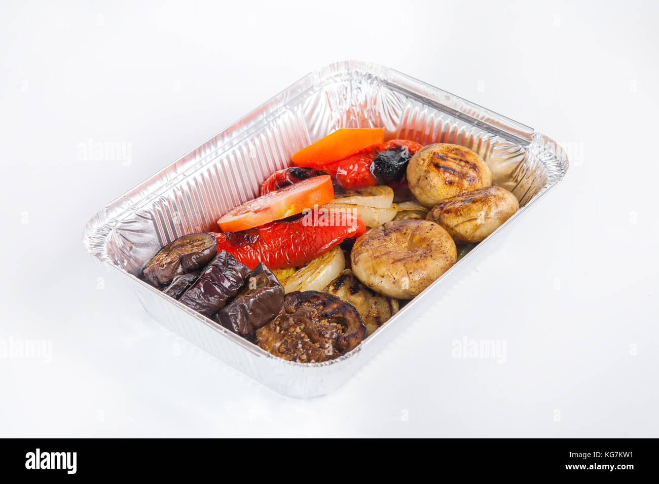 Healthy restaurant food delivery in foil box green stewed cabbage healthy restaurant food delivery in foil box green stewed cabbage roll with veal steak on brown bread and other dishes beef and vegetable with cherr forumfinder Choice Image
