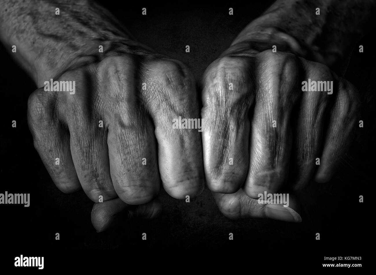 Black vs mature fist