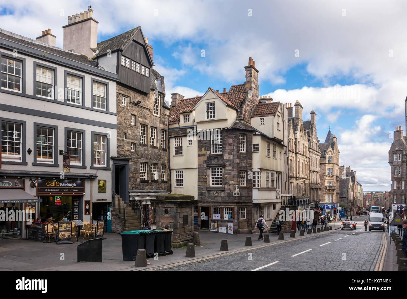 John Knox House, John Knox's House, historic 16th century house, High Street, Edinburgh, Scotland, UK Stock Photo