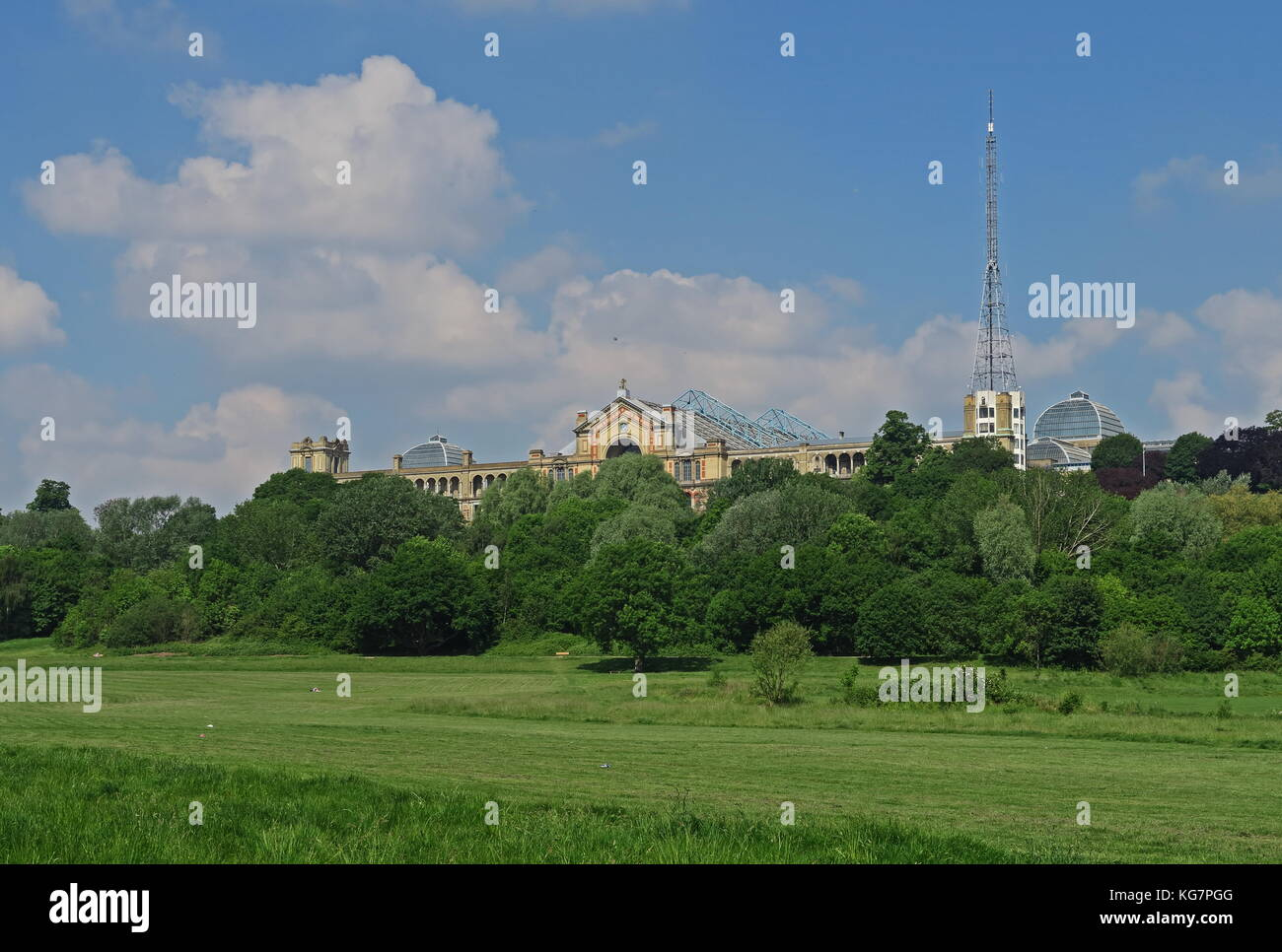 view over Alexandra Park to Alexandra Palace  Haringey, London                   May 2017 - Stock Image