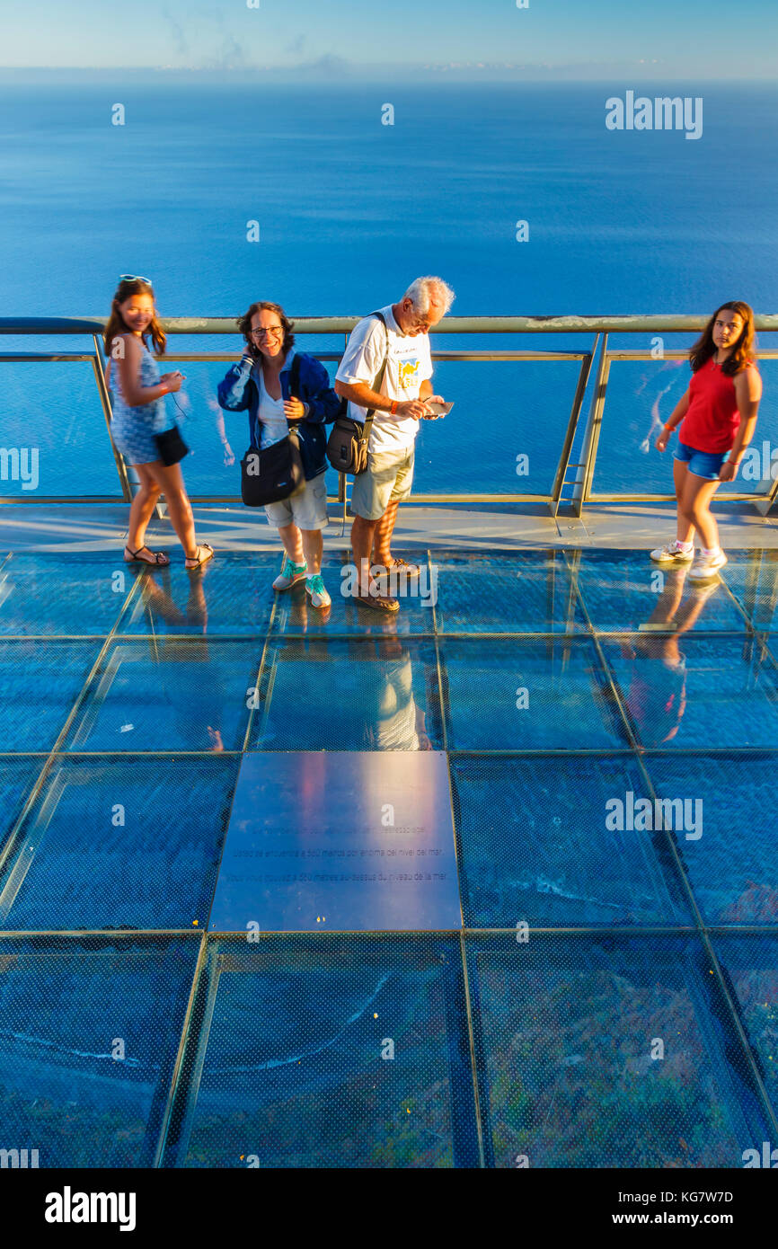 People in a viewpoint. - Stock Image