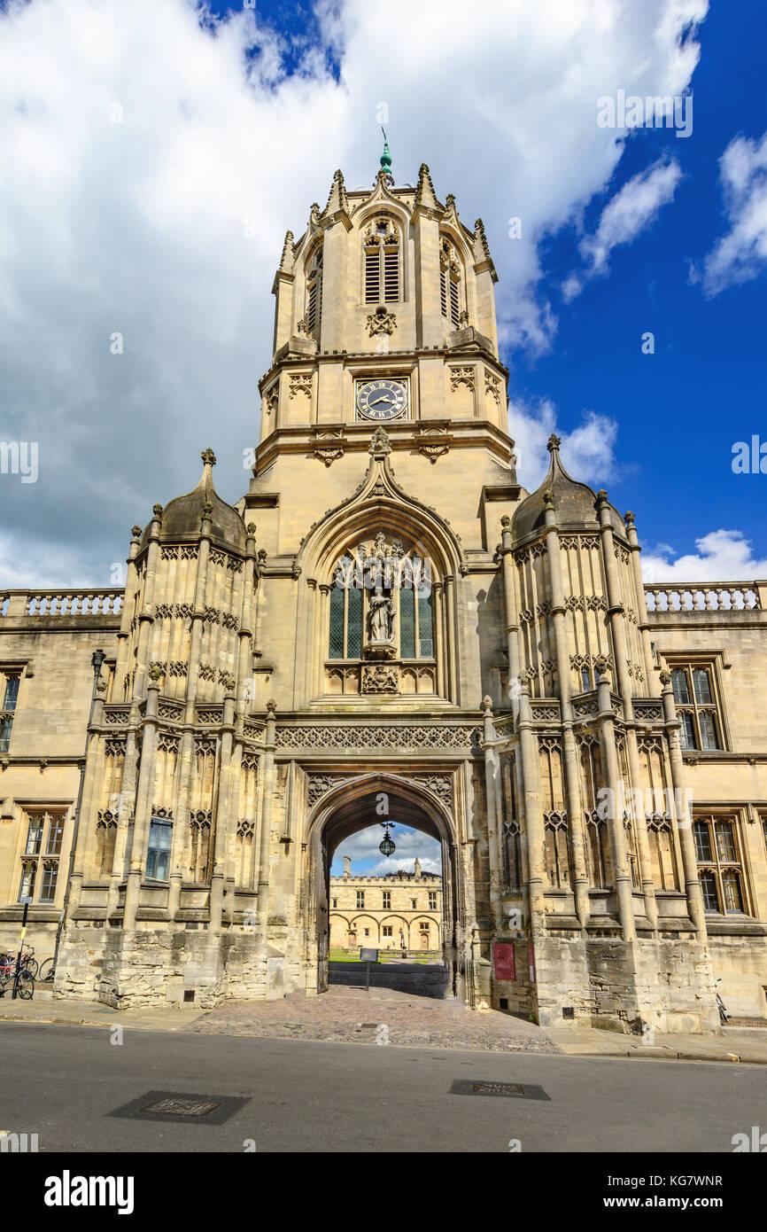 Tom tower of christ church oxford university oxford uk stock image