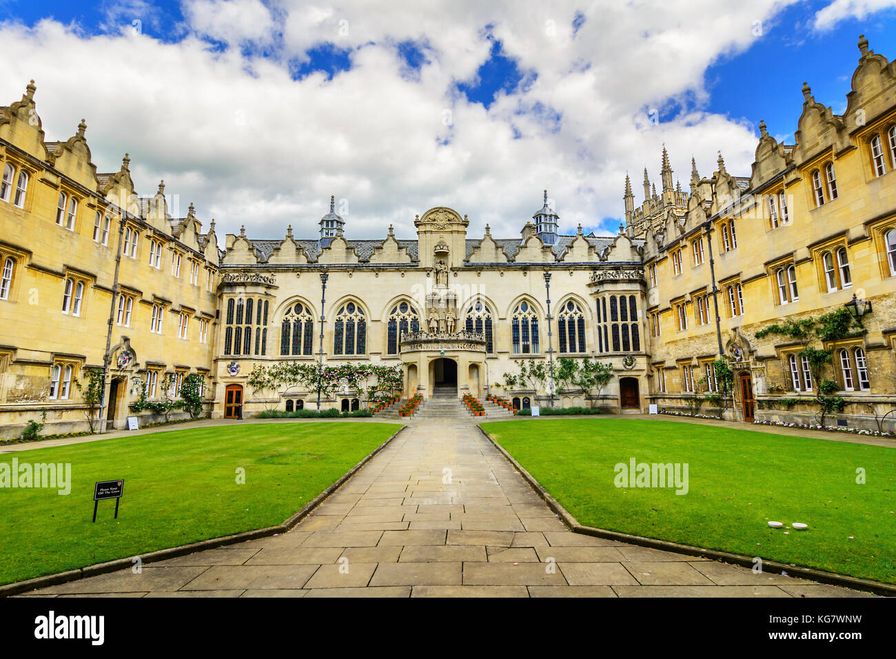 Oriel College, Oxford, England, United Kingdom - Stock Image