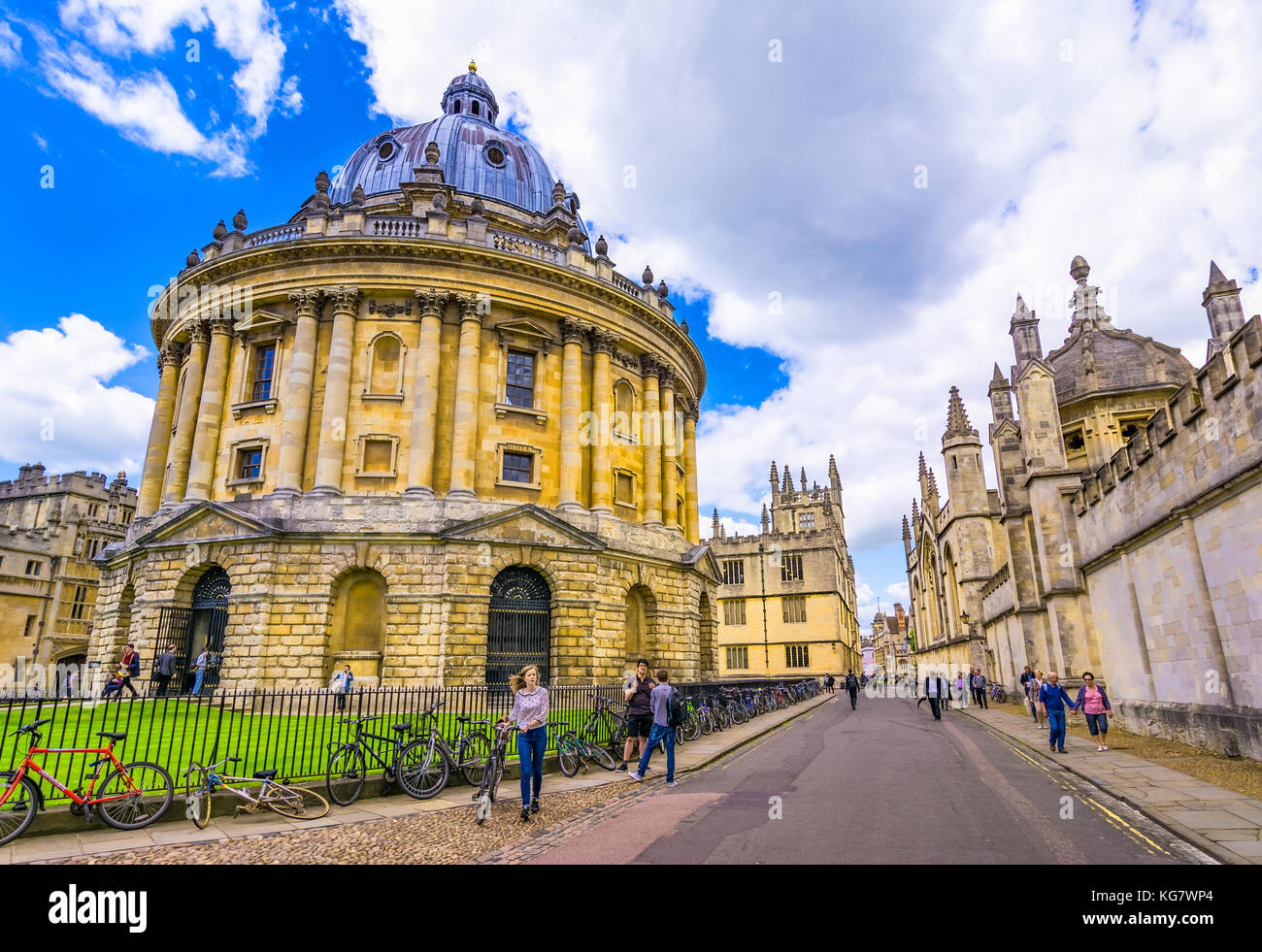 Radcliffe Camera, room addition to the Bodleian Library in Oxfor Stock Photo