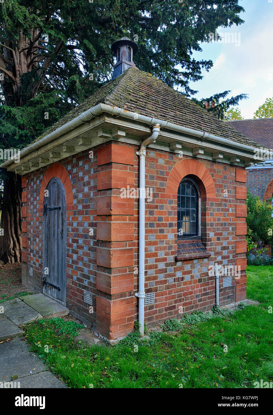 The Blowing House, St Helens Church, Abingdon  Built in 1927 to house the pump for the organ, in a style to match - Stock Image