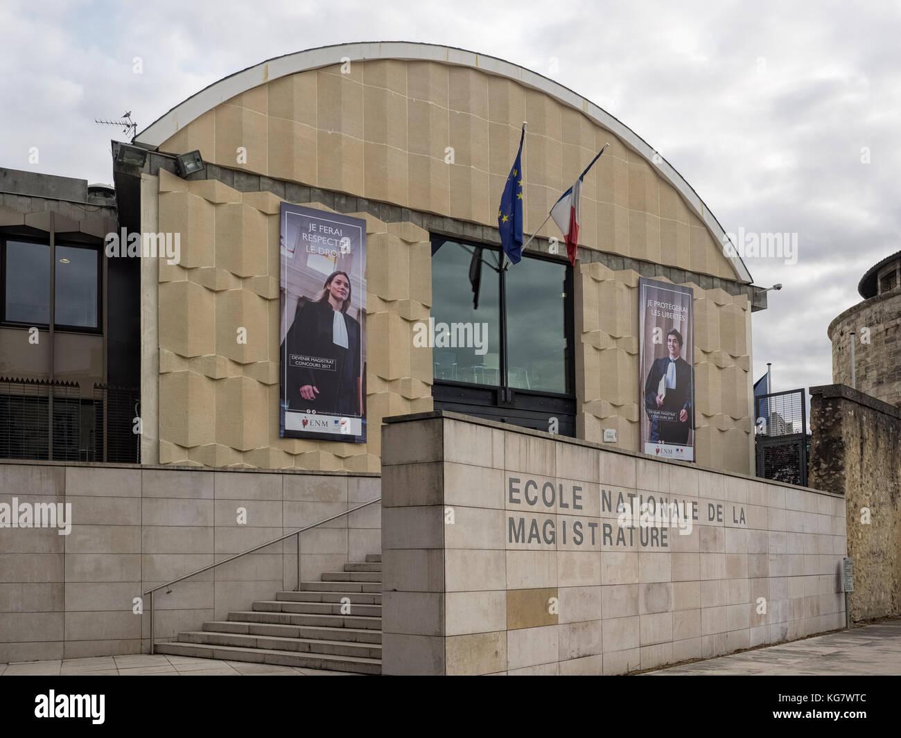BORDEAUX, FRANCE:   National School of the Judiciary (École nationale de la Magistrature) - Stock Image