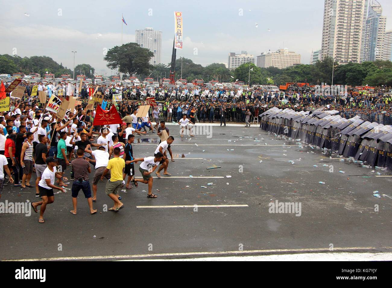 Manila City, Philippines, 5th November, 2017. Philippines. 05th Nov, 2017. The members of Philippine National Police - Stock Image