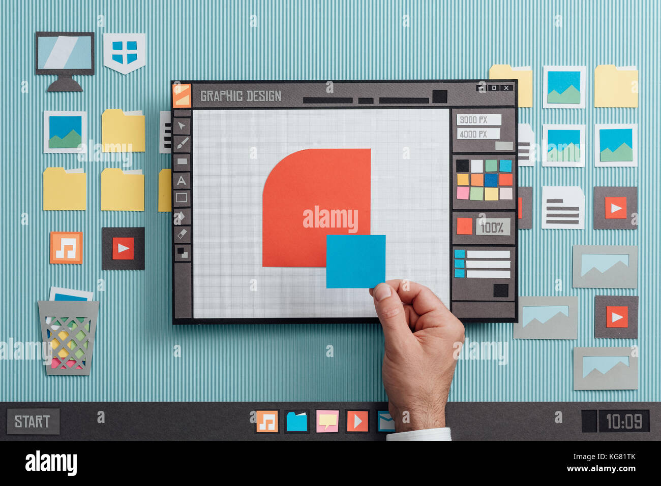 Graphic Design And Vector Illustration Software Interface A Designer Stock Photo Alamy