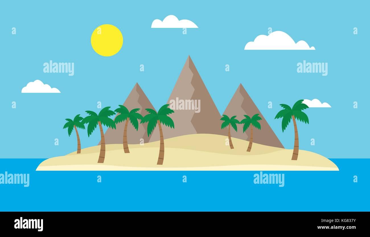 Tropical Island Cartoon: Caribbean Vector Vectors Stock Photos & Caribbean Vector