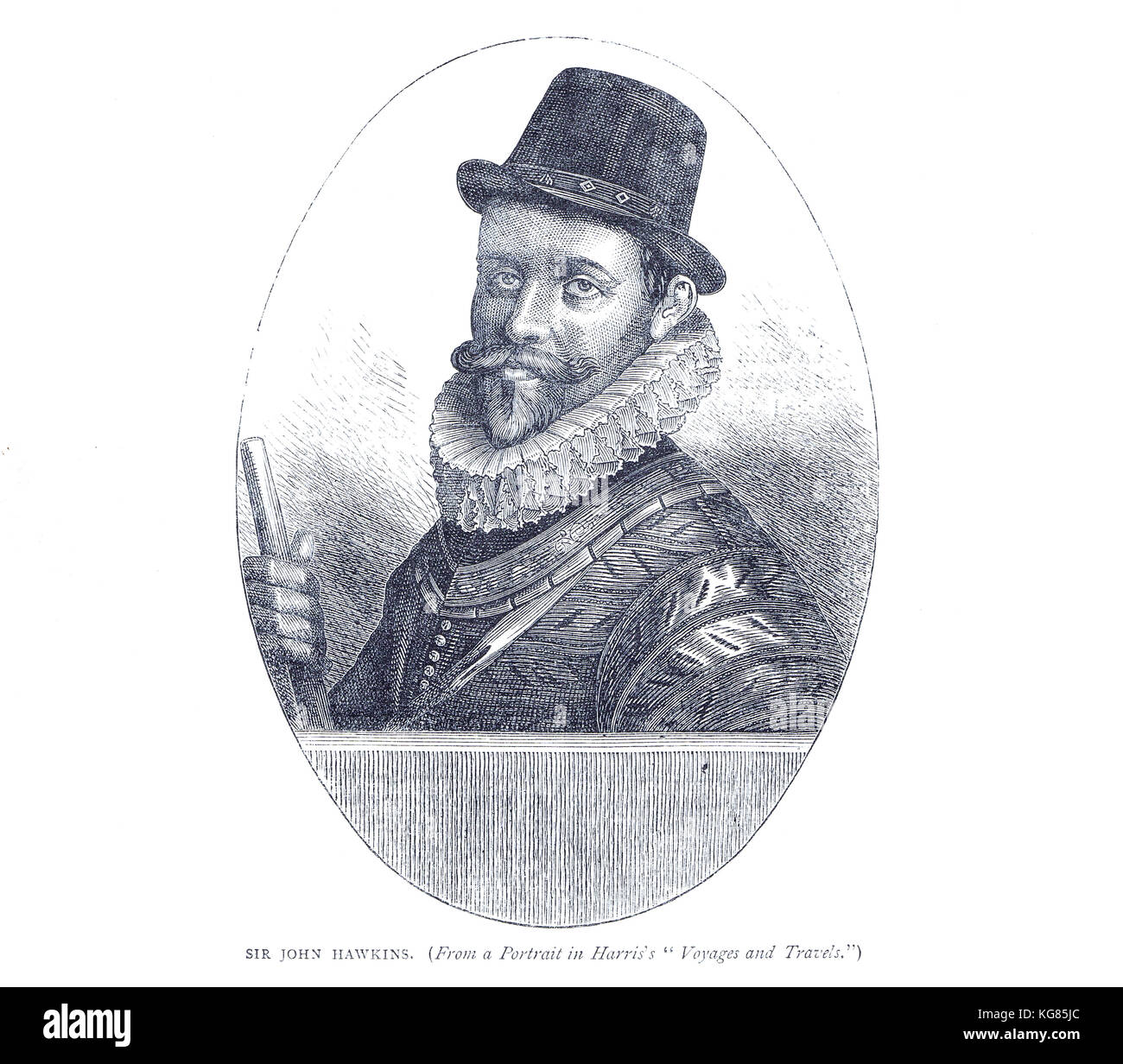 Admiral Sir John Hawkins, 1532-1595,  English slave trader, naval commander and administrator, merchant, navigator, - Stock Image