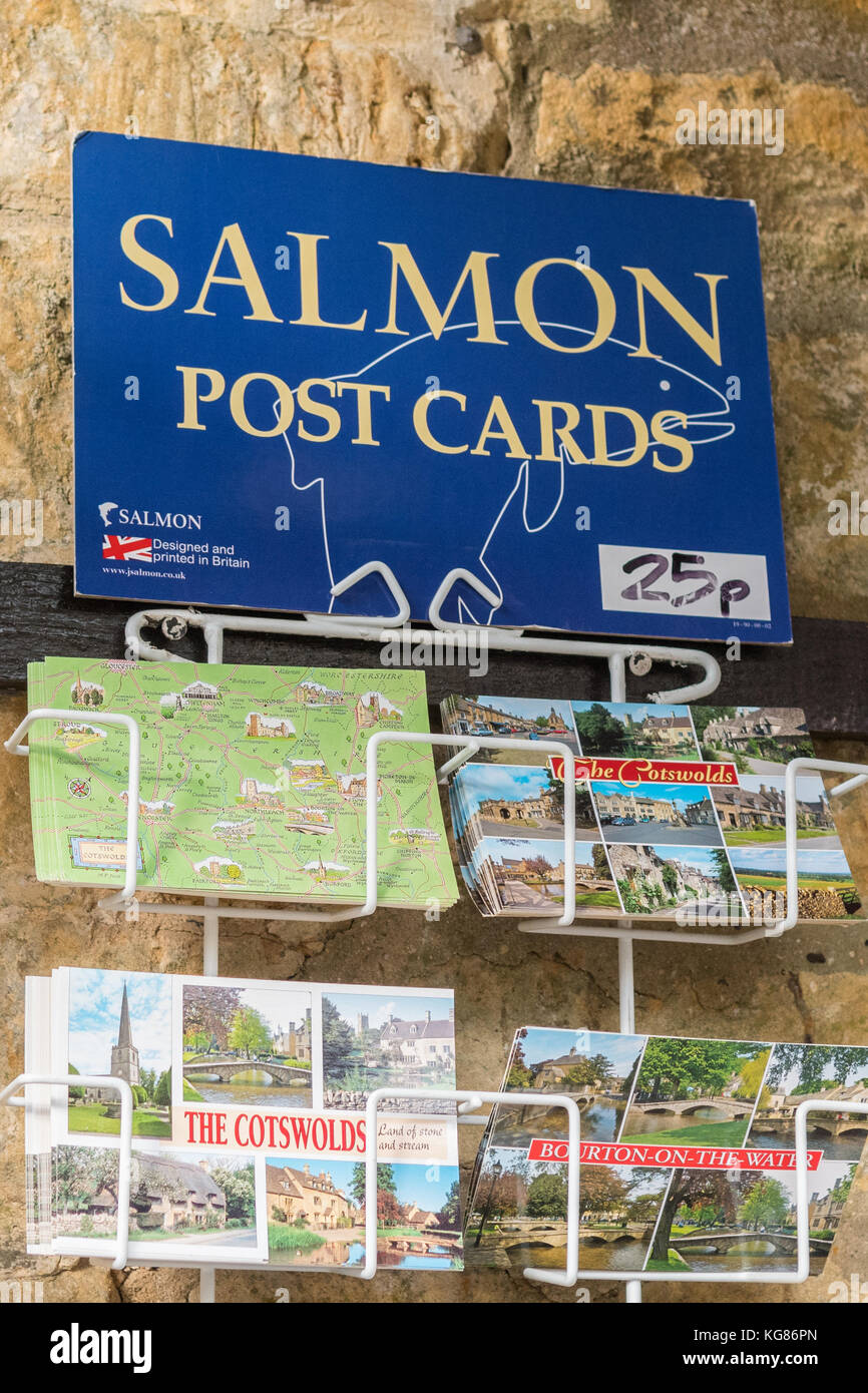 Salmon postcards - post cards manufactured by J Salmon Ltd - Stock Image