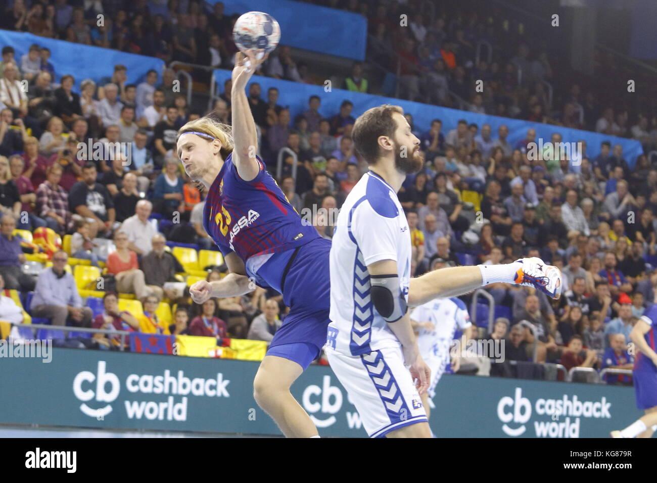 Jure Dolenec,4th October  2017, Palau Blaugrana, Barcelona, Spain; EHF Mens Champions League Group Phase, handball. - Stock Image