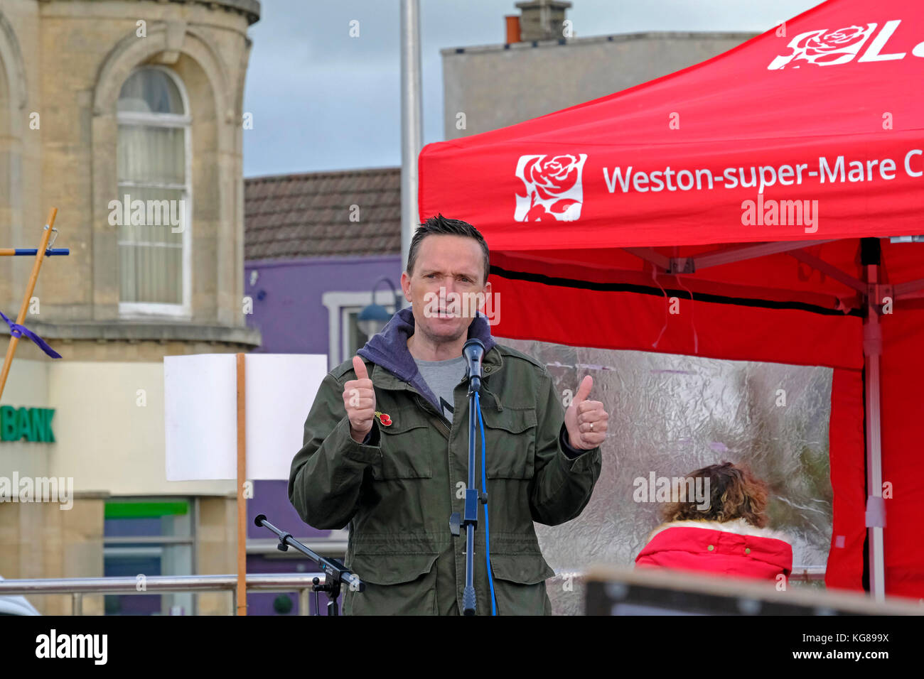 Weston-super-Mare, UK. 4th November, 2017. Councillor Mike Bell, Liberal Democrat leader on North Somerset Council, - Stock Image