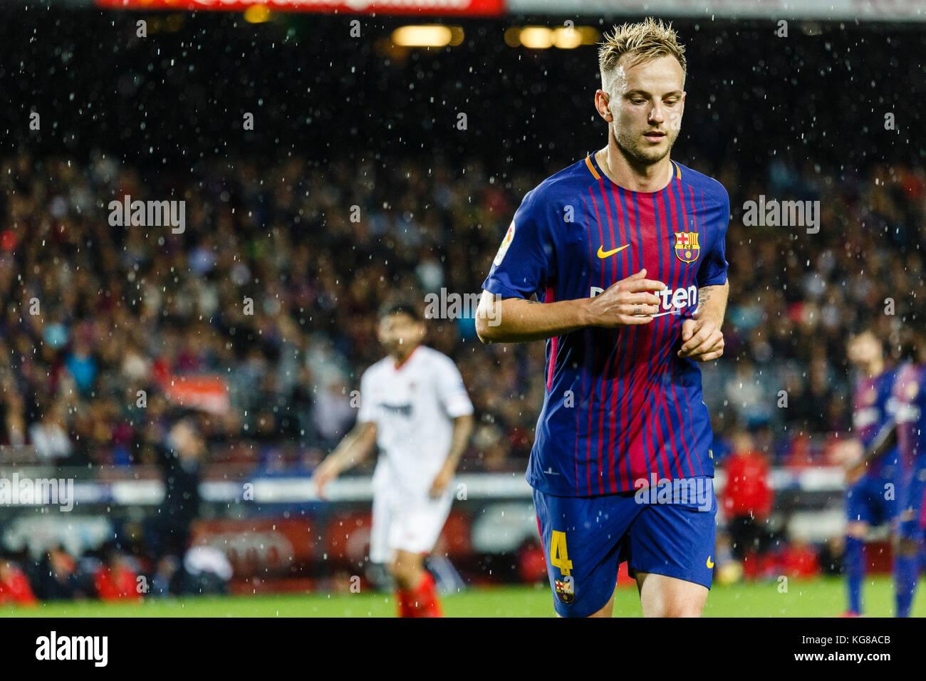 Barcelona, Spain. 04th Nov, 2017. November 4, 2017 - Barcelona, Barcelona, Spain -(04) Rakitic (centrocampista) Stock Photo