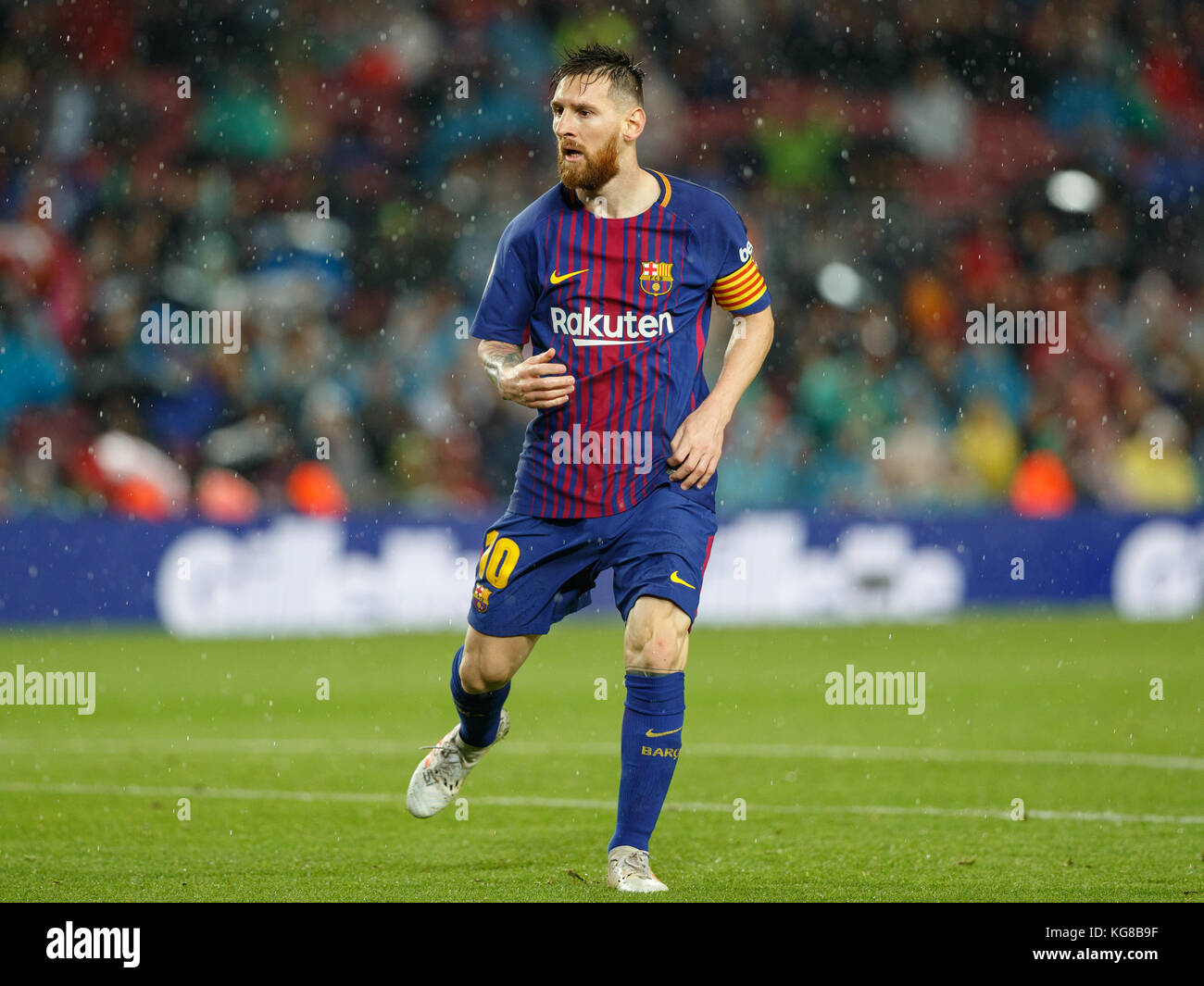 Barcelona, Spain. 4th November, 2017. Match between FC Barcelona and Sevilla FC in Camp Nou stadium. Leo Messi Credit: - Stock Image