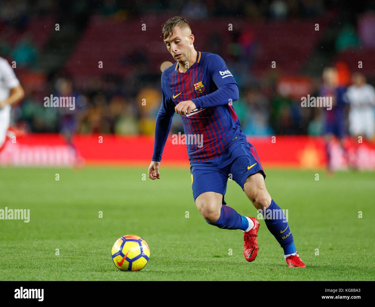 Barcelona, Spain. 4th November, 2017. Match between FC Barcelona and Sevilla FC in Camp Nou stadium. Deulofeu Credit: - Stock Image