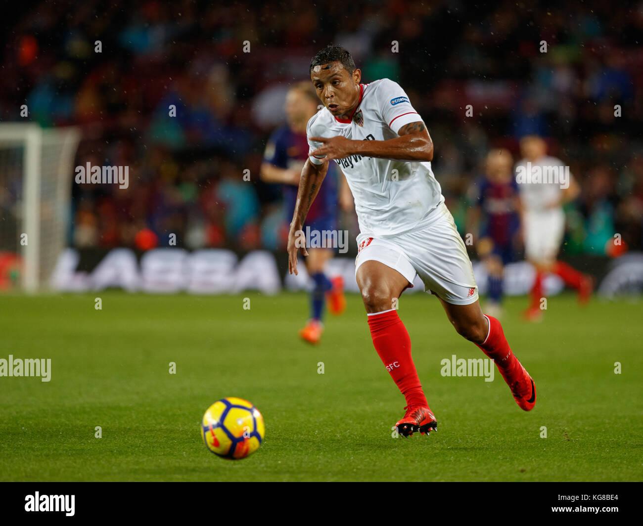 Barcelona, Spain. 4th November, 2017. Match between FC Barcelona and Sevilla FC in Camp Nou stadium. Muriel Credit: - Stock Image