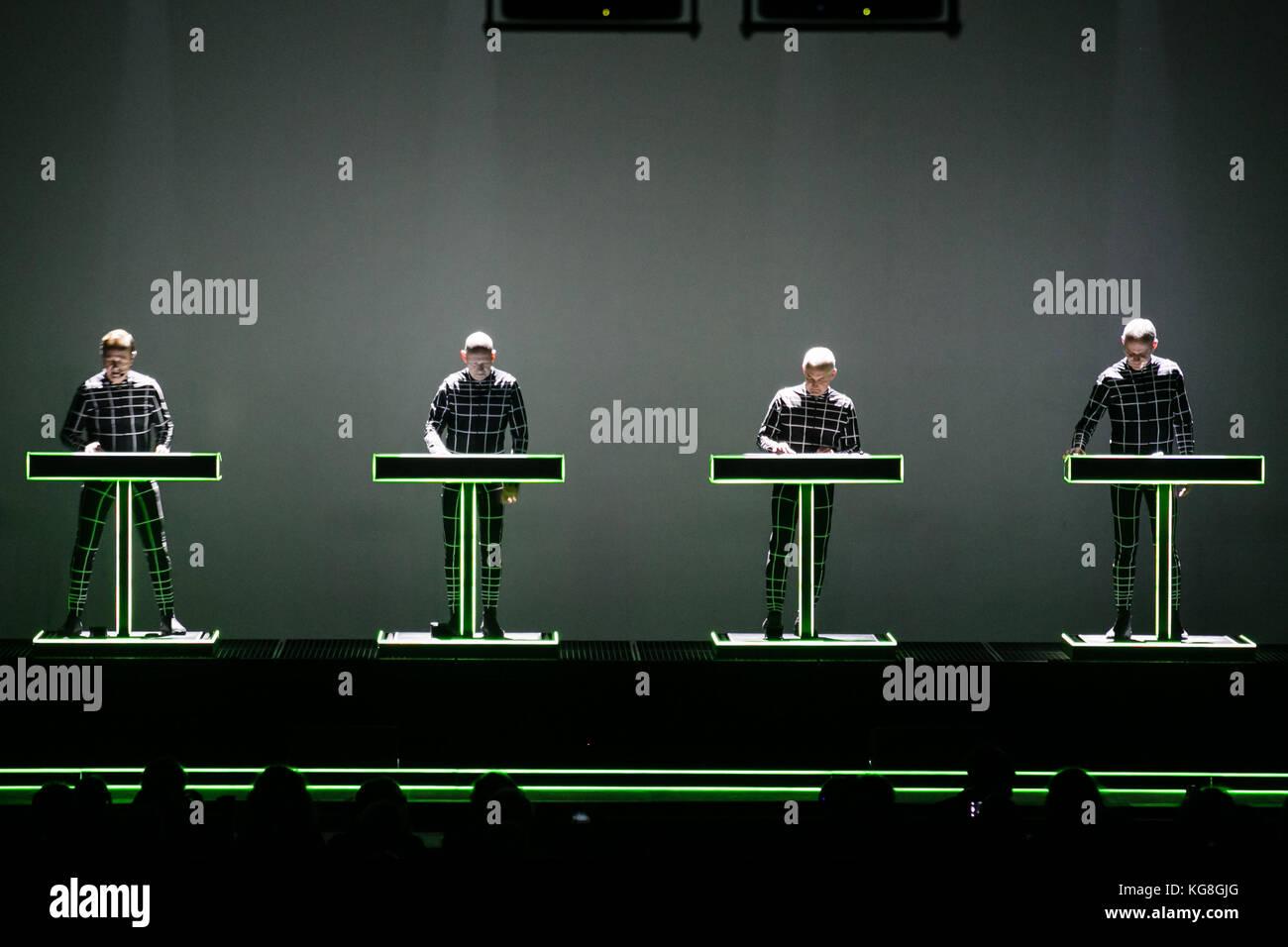 Turin, Italy, 04th november 2017 german electro band Kraftwerk perform live a 3d show Credit: Daniele Baldi/Alamy Stock Photo