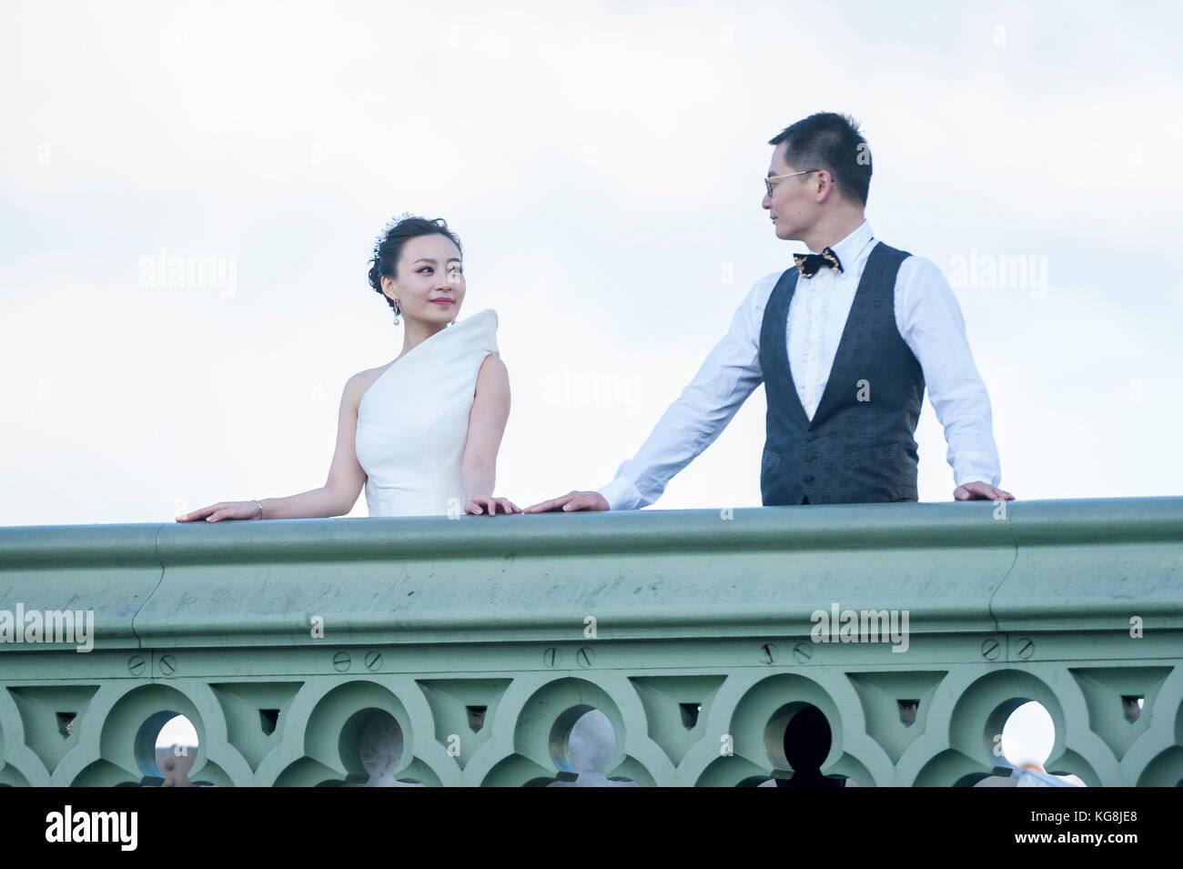Chinese Couple Wedding Photographs Taken Stock Photos & Chinese ...
