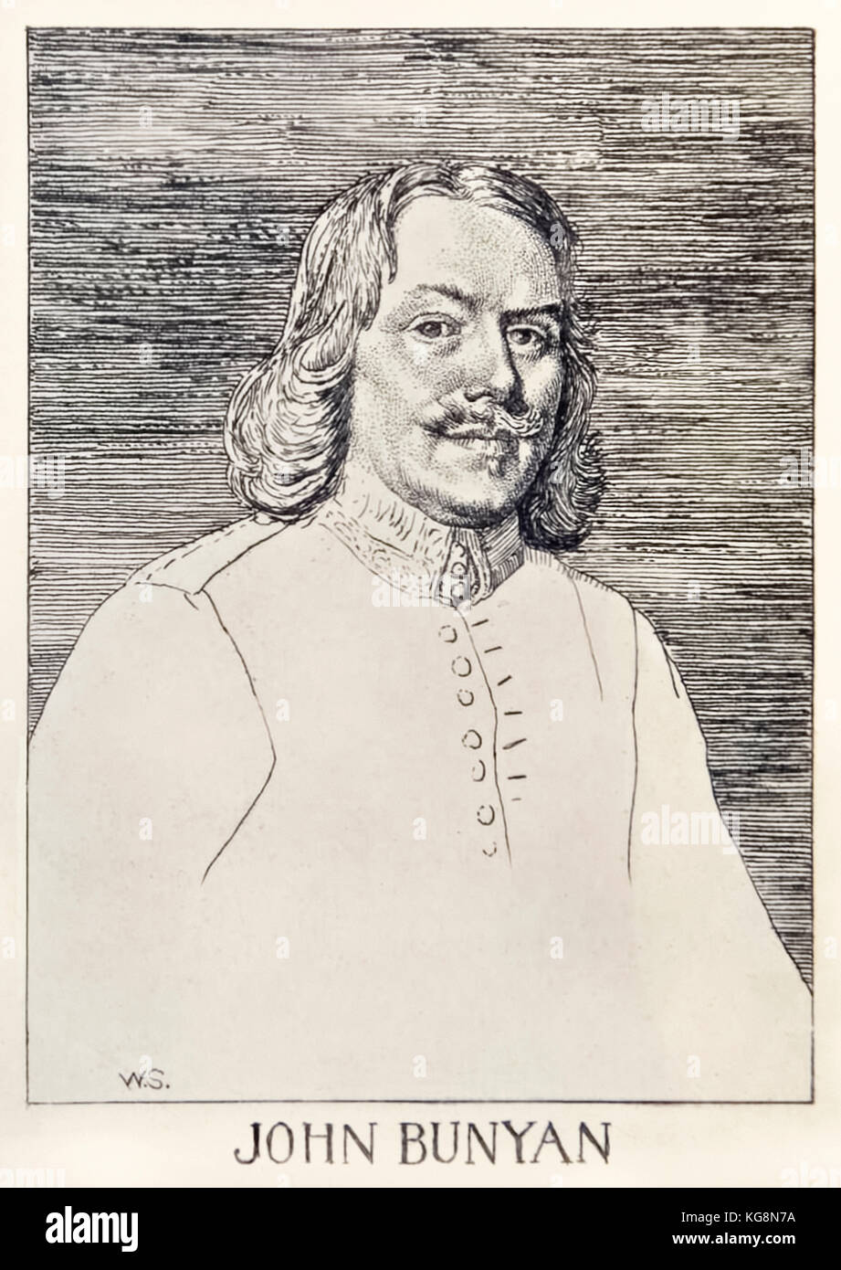 John Bunyan (1872-1919) author of 'The Pilgrim's Progress From This World, To That Which Is To Come', illustration - Stock Image