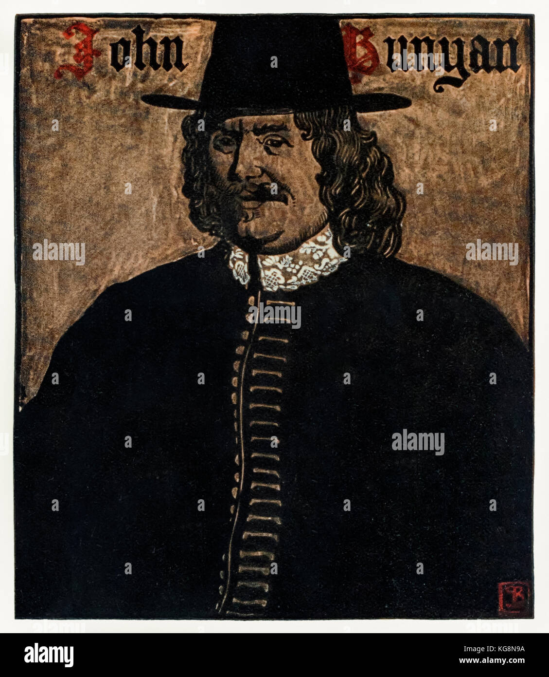 John Bunyan (1872-1919) author of 'The Pilgrim's Progress From This World, To That Which Is To Come', illustration Stock Photo