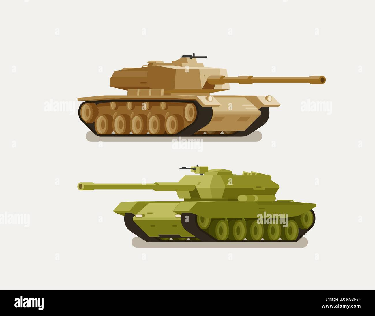 Military tank, army concept. War, weapon, battle symbol or icon. Vector illustration - Stock Vector