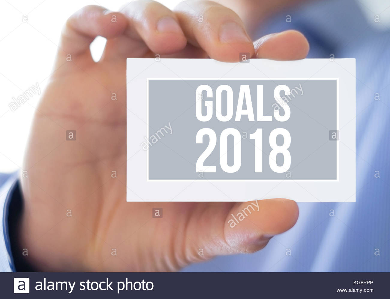 Goals for 2018 - Stock Image