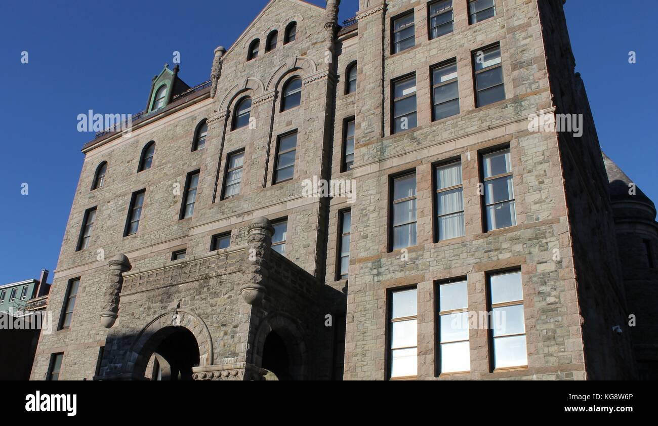 The historic courthouse building in downtown, St. John's, Newfoundland - Stock Image